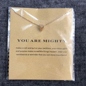 You Are Mighty 14k gold dipped necklace